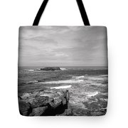Seaside Bluff Bw Tote Bag