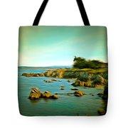 Seaside In The Distance Digital Tote Bag