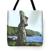 Seaside Moai Tote Bag
