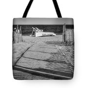 Seaside Park New Jersey Shore Bw Tote Bag