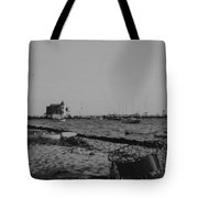 Seaside Park Nj Yacht Club Bw Tote Bag