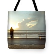 Seaside Person Tote Bag