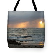 Seaside Rainstorm Tote Bag