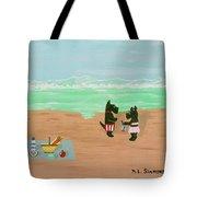 Seaside Scotties Tote Bag