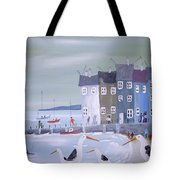 Seaside Seagulls Tote Bag