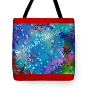 Season Greetings - Snowflakes Tote Bag