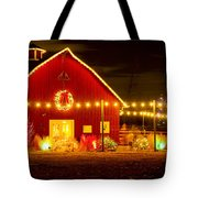 Seasons Greetings Barn Tote Bag