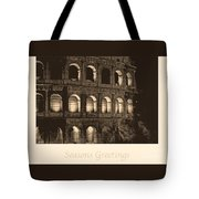 Seasons Greetings With Colosseum Tote Bag
