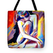 Seated Lady Tote Bag