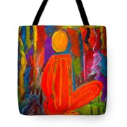 Seated Monk Tote Bag