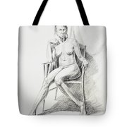Seated Nude Model Study Tote Bag
