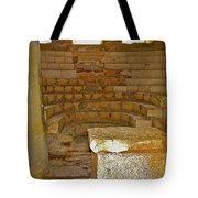 Seats For The Elders And Podium In Church Of Saint Nicholas In Myra-turkey Tote Bag