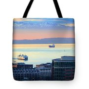 Seattle And Elliott Bay Tote Bag
