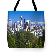 Seattle And Mt. Rainier Tote Bag