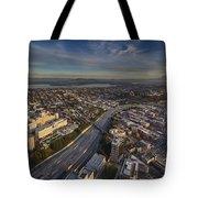 Seattle And Rainier Golden Light Tote Bag