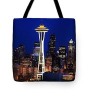 Seattle By Night Tote Bag