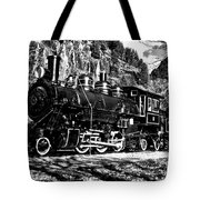 Seattle City Light Train In Bw Tote Bag