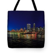 Seattle City Skyline Romance Panorama Tote Bag
