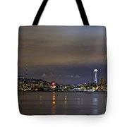 Seattle Cityscape At Night Tote Bag