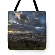 Seattle Dramatic Dusk Tote Bag