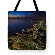 Seattle Dusk Colors Tote Bag