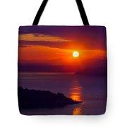 Seattle Fiery Sunset Tote Bag