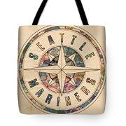 Seattle Mariners Poster Vintage Tote Bag