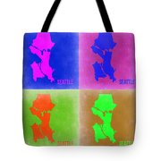 Seattle Pop Art Map 2 Tote Bag