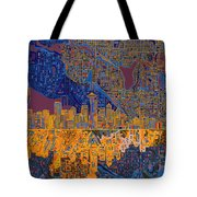 Seattle Skyline Abstract 4 Tote Bag