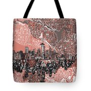 Seattle Skyline Abstract 5 Tote Bag