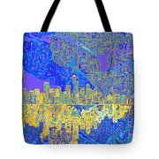 Seattle Skyline Abstract 6 Tote Bag