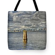 Seattle Skyline And Cityscape Tote Bag
