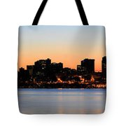 Seattle Skyline And Puget Sound At Sunrise Tote Bag