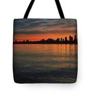 Seattle Skyline At Dawn Tote Bag