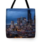 Seattle Skyline Evening Drama Tote Bag