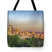 Seattle Skyline Lens Baby Hdr Tote Bag