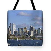 Seattle Skyline On Lake Union Tote Bag