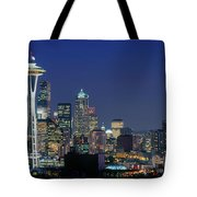 Seattle Skyline With Space Needle Tote Bag