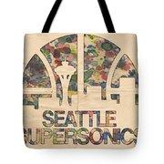 Seattle Supersonics Poster Vintage Tote Bag