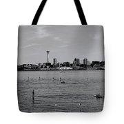 Seattle Waterfront Bw 2 Tote Bag