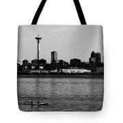 Seattle Waterfront Bw Tote Bag