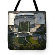 Seattle With Aerial View Of The Newly Renovated Husky Stadium Tote Bag