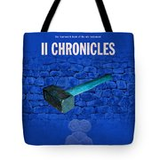 Second Chronicles Books Of The Bible Series Old Testament Minimal Poster Art Number 14 Tote Bag