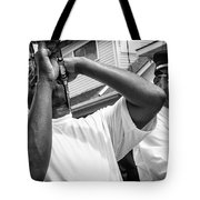 Second Line Black And White Tote Bag