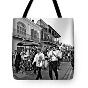 Second Line Parade Bw Tote Bag