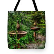 Secret Garden Birdbath Tote Bag