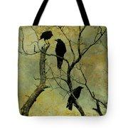Secretive Crows Tote Bag