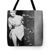 Secure Filing Cabinet Tote Bag by Underwood Archives