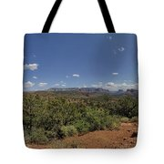 Sedona Panorama In 5 Pictures Tote Bag