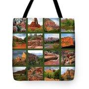 Sedona Spring Collage Tote Bag by Carol Groenen